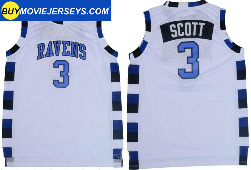 Lucas Scott One Tree Hill Ravens #3 Basketball Movie Jersey