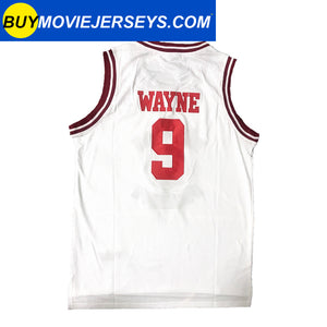 A Different World DWAYNE WAYNE  #9 HILLMAN COLLEGE  Basketball Movie Jersey White Color
