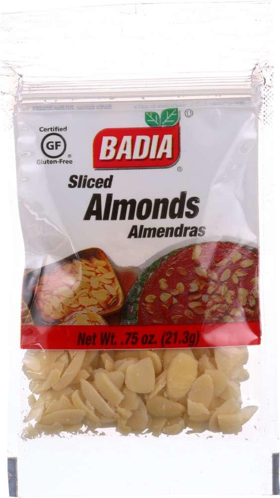 BADIA: Sliced Almonds, 0.75 oz