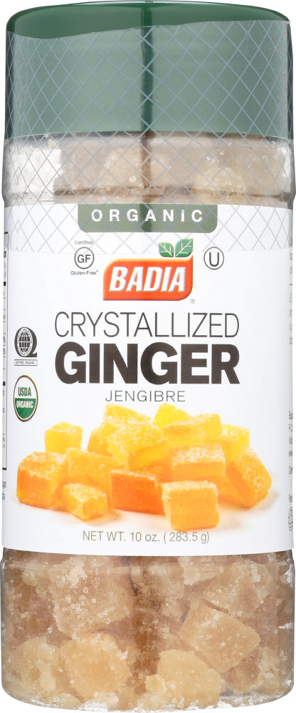 BADIA: Organic Crystallized Ginger, 10 oz