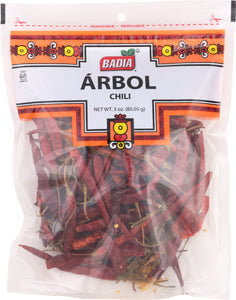 BADIA: Chili Pods Arbol, 3 oz