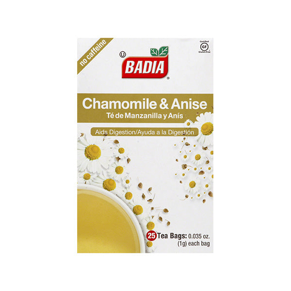 BADIA: Chamomile and Anise Tea, 25 bg