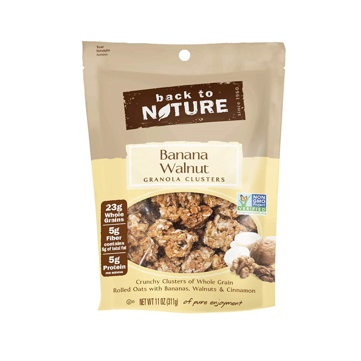 BACK TO NATURE: Banana Walnut Granola Clusters, 11 oz