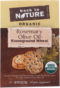 BACK TO NATURE: Rosemary and Olive Oil  Cracker, 6 oz