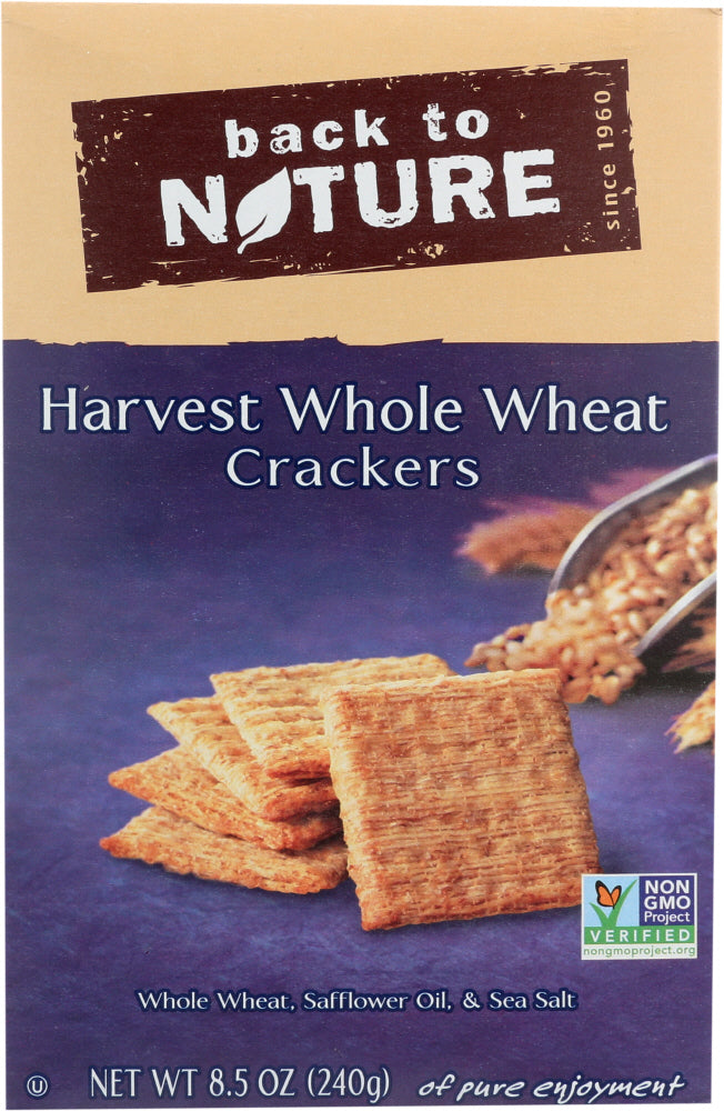 BACK TO NATURE: Harvest Whole Wheat Crackers, 8.5 oz