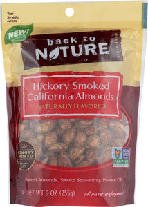 BACK TO NATURE: Hickory Smoked California Almonds, 9 oz