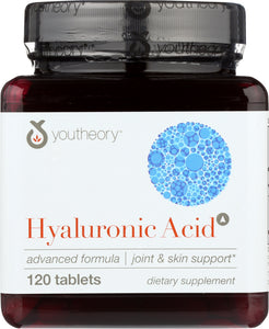 YOUTHEORY: Hyaluronic Acid Advanced Formula, 120 tb