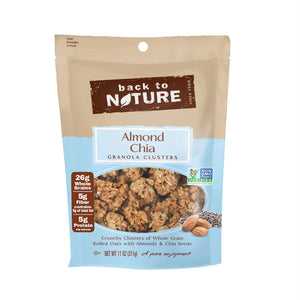 BACK TO NATURE: Almond Chia Granola Clusters, 11 oz