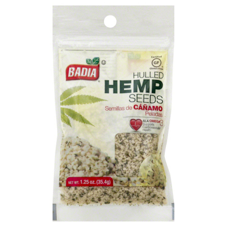 BADIA: Hulled Hemp Seeds, 1.25 oz