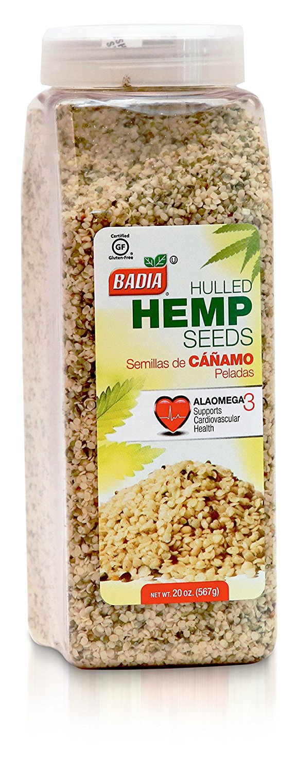 BADIA: Hulled Hemp Seeds, 20 oz