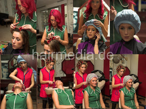 1006 KristinaB by NadjaZ wash fresh styled hair and set complete 38 min HD video for download
