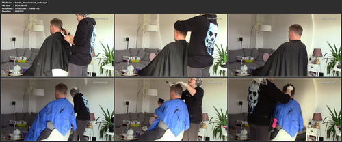 1052 Kersty unbreakable male haircut, buzz and color