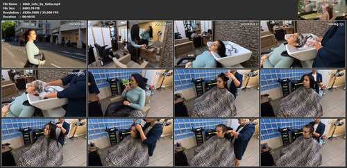 1060 Lola long hair  by Katia bwd wash and blow 40 min HD video for download