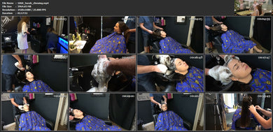 1060 Sara XXL hair chewing gum by barber black bowl wash 78 min HD video for download