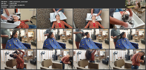 1060 AnnaMaria 3 by barber shampoo and  haircut Cam 2  17 min HD video for download