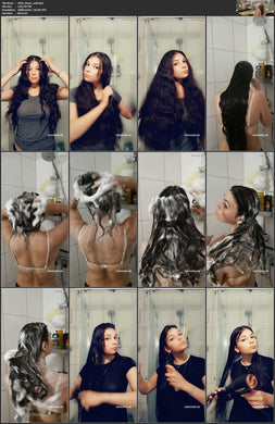 1094 DianaS XXL hair shower shampooing 13 min HD video for download