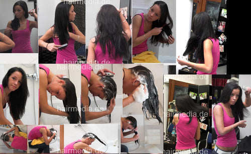 191 AnneW custom combing, brushing, shampooing 109 min video for download