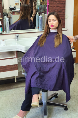 e0005 unique violet shampoo and haircutcape waterproof used