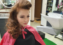 Load image into Gallery viewer, 6194 JuliaR 3 wetset victory rolls in Frankfurt salon redhair
