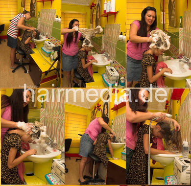 9133 Jana 8 by Dunja forward shampoo hairwash 17 min HD video for download