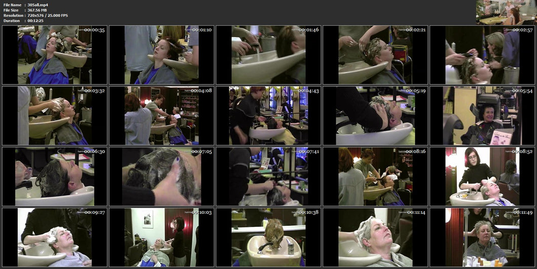305 old 1980s salon backward shampooing 12 min video for download
