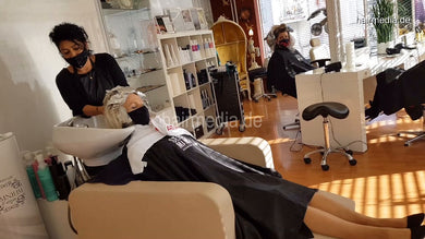 4058 Dzaklina 2020 November tre colori torture 2 shampoo haircut and style in black facemask
