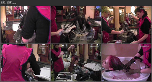 442 Natalie long hair going blonde and pink 50 min video for download