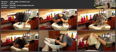 986 Young asian barberette 2 self hairwash