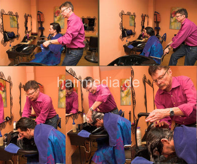 279 long haired Timo by barber 4 fwd wash 7 min HD video for download