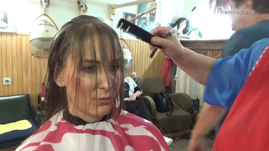 6196 Angelina 2 haircut and style 9 min HD video for download