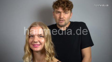 7200 blonde lady complete perm by russian barber