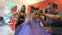 Load image into Gallery viewer, 8160 07 young boy Zoy in Leatherpants controlled haircut  TRAILER