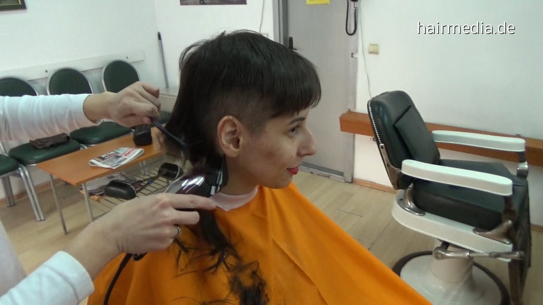 8400 Jasna shorter buzzcut 18 min HD video for download