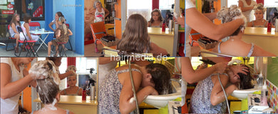 9133 Miljana 1 young girl upright shampooing 20 min HD video for download
