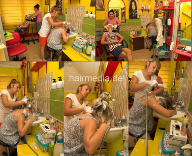 9133 Miljana 2 young girl firm forward shampoo hairwash 12 min HD video for download