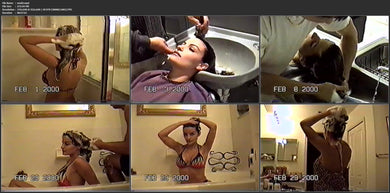 9143 modelwash 2 misc US shampooing from 90s, 58 min video for download