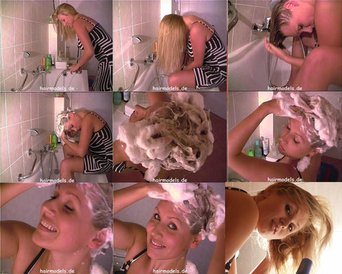 990 Barberette Tatjana self bath tub shampooing 20 min video for download