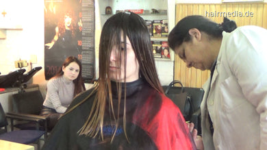390 Anette haircut 4 min HD video for download