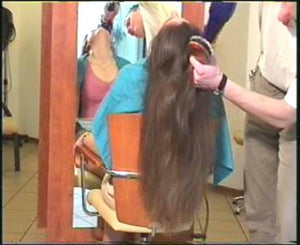 312 LH long hair shampooing and haircut video for download