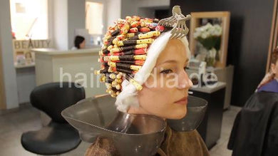 7200 Russian lady complete perm by russian barber