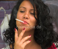 Load image into Gallery viewer, 1109 IvanaS 3 wetset and the cigarette after smoking serbian salon summer