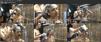 1143 Stasi in Rollers Washing Long Hair 43 min HD video for download