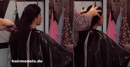 1015 Agnieszka 4 scalp massage in vinyl cape 48 min upright by barber on barberchair