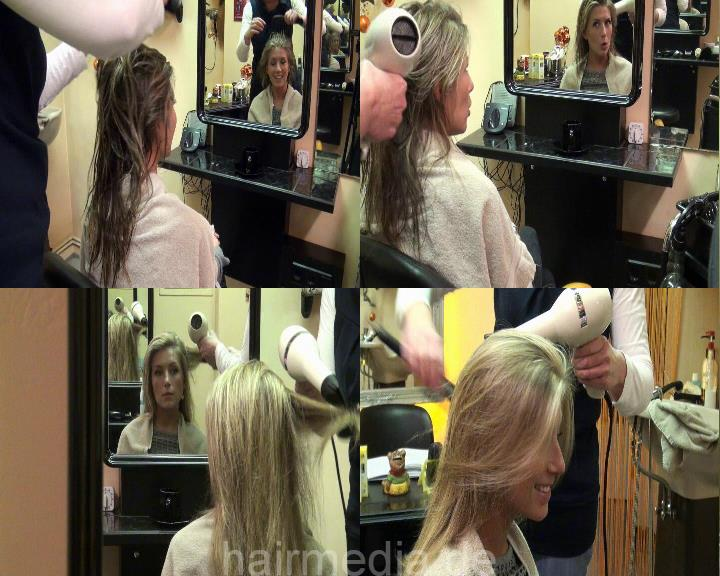 b016 KristinaB style blowdry 14 min HD video for download