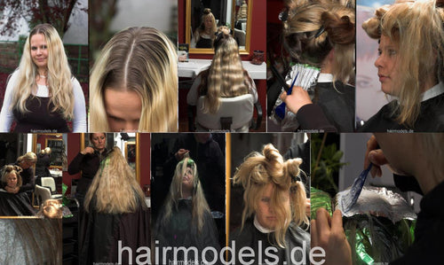 479 MarinaH long hair bleaching, shampoo, blow 95 pictures for download