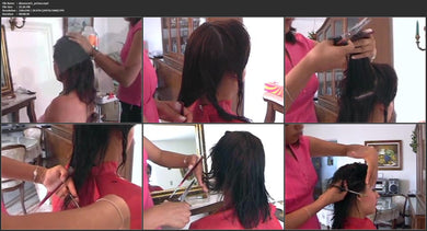6199 Dianas cut and small perm rod wetset