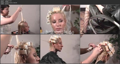 6199 Golden Curls wetset and updo 26 min video for download