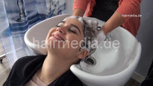 Load image into Gallery viewer, 9053 1 friend backward salon hair wash and shampooing