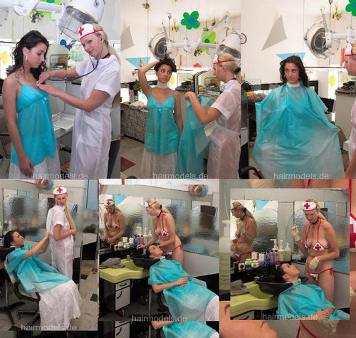 159 Emergency Barberette Eva 1 shampooing 21 min video for download
