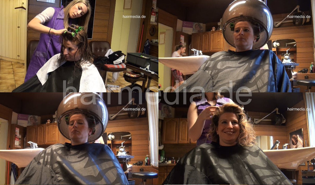 6136 NicoleSF 4 in curlers by KristinaB under dryer 50 min HD video for download